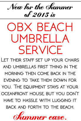 Ocean Atlantic Rentals Umbrella Service