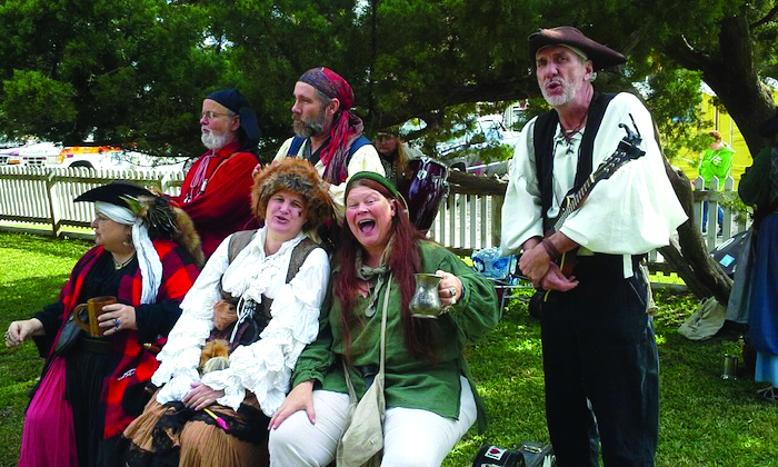 People dressed as pirates in Ocracoke