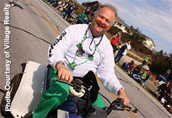 Mike Kelly at Outer Banks Saint Patricks Day parade