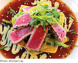 Seared Tuna Dinner on Outer Banks