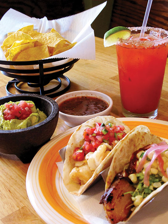 Bad Bean Baja Grill Taco Entrees