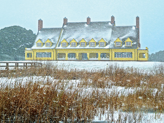 Snow at Whalehead in Corolla