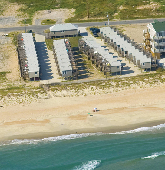 Hatteras Cottages Aerial Photo