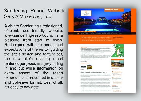 Sanderling Resort Website Makeover