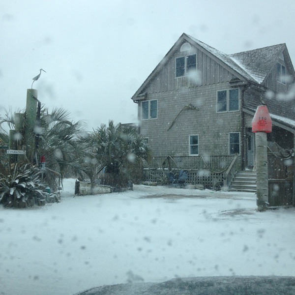 Ocracoke Island in Snow