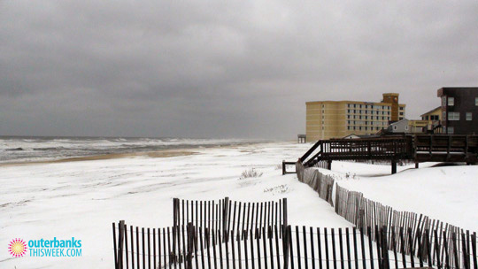 Nags Head NC in Snow