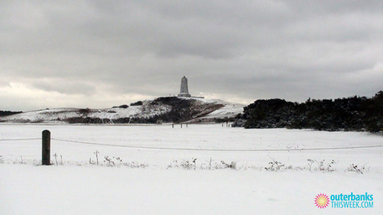 Kill Devil Hills NC in Snow
