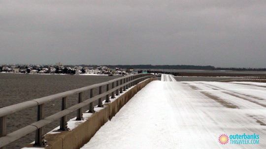 Outer Banks in Snow