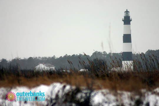 Cape Hatteras Lighthouse in Snow