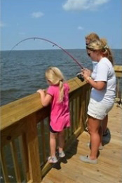 Soundside Fishing program at the North Carolina Aquarium on Roanoke Island