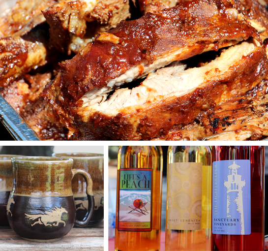 North Carolina Barbecue at Wine and Swine Event