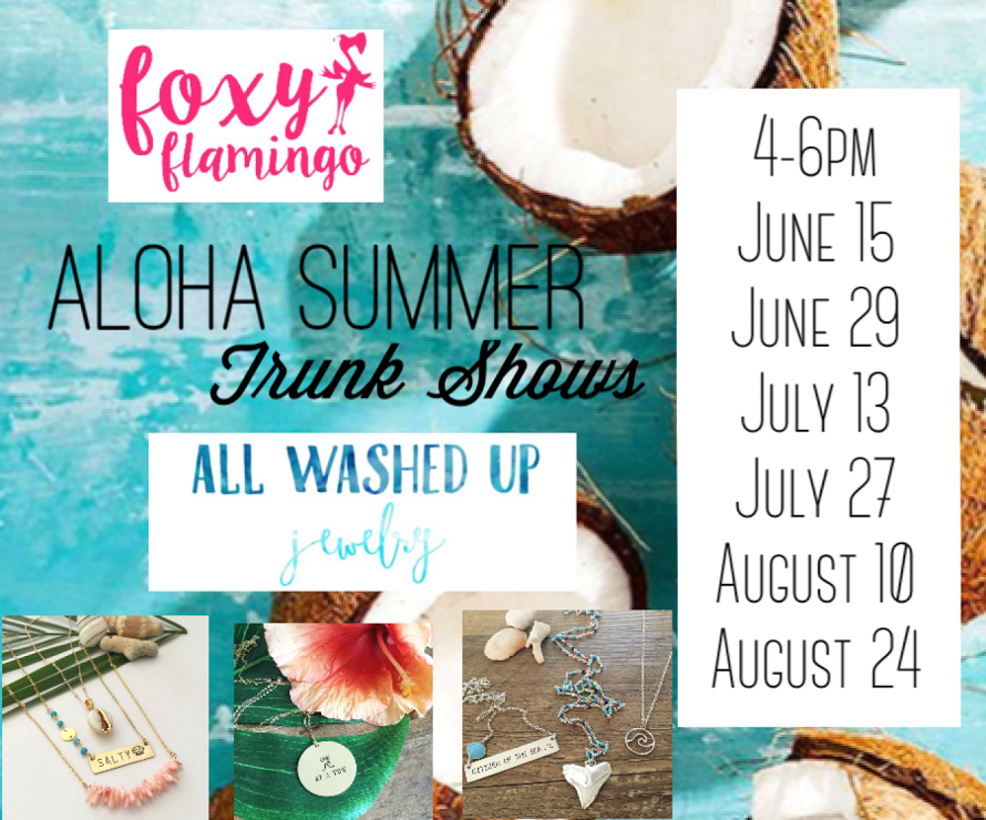 All washed up jewelry summer trunk shows foxy flamingo for All washed up jewelry