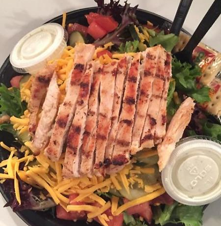 Grilled chicken breast salad poor richard 39 s sandwich for Poor richard s fishing report
