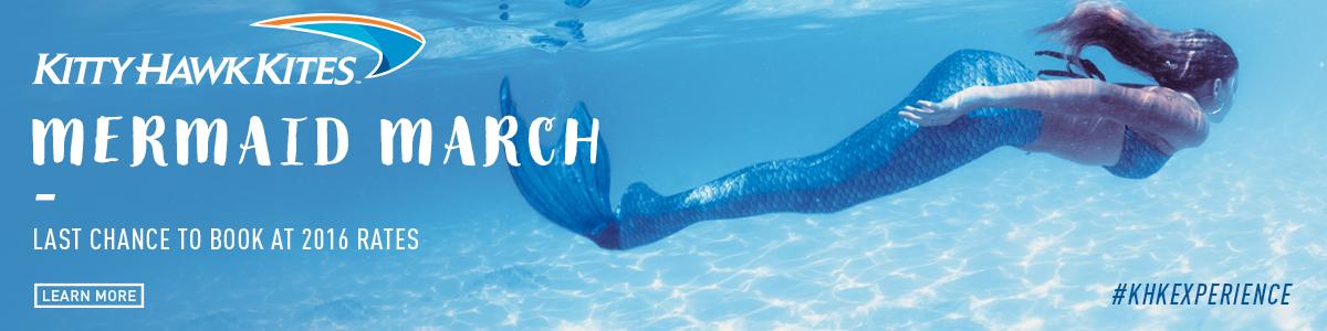 Mermaid March at Kitty Hawk Kites