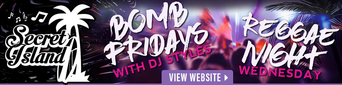 Reggae Night & Bomb Fridays at Secret Island Tavern