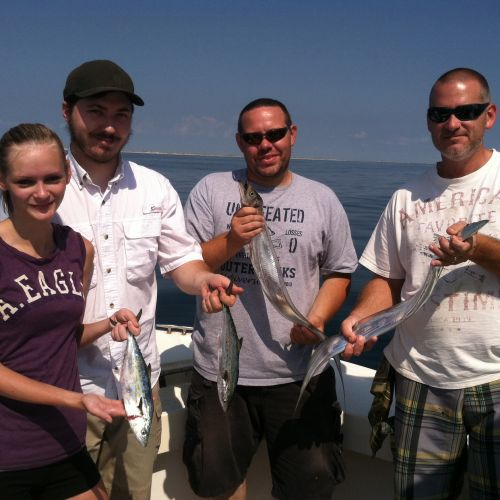 T-Time Charters, Jon's crew with a couple Spanish and ribbons