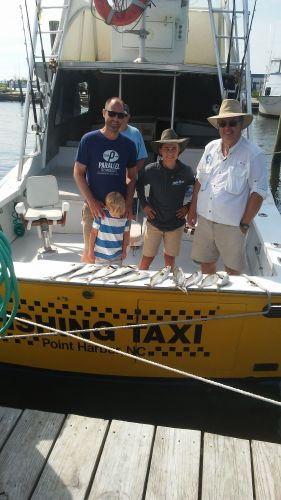 Fishing Taxi Sportfishing, Mix trip with dads and Sons