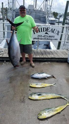 Phideaux Fishing, BLUE MARLIN, BIG EYE, YELLOW FIN AND MAHI