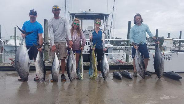 Phideaux Fishing, Big yellow fin, Big eye and mahi