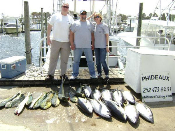 Phideaux Fishing, Great spring fishing, tuna and mahi