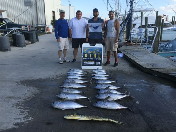 Carolina Girl Sportfishing Charters Outer Banks, 10/13/20  Tuna ,Mahi & A Sail Fish
