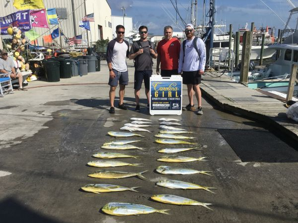 Carolina Girl Sportfishing Charters Outer Banks, Mahi & Tile Fish Day