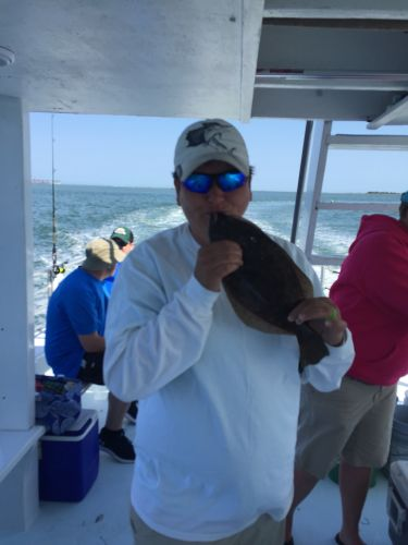 Crystal Dawn Head Boat Fishing and Sunset Cruise, Nonie from Chesapeake with a 15.5 inch flounder!!