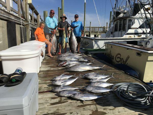Carolina Girl Sportfishing Charters Outer Banks, Windy & Rainy Day
