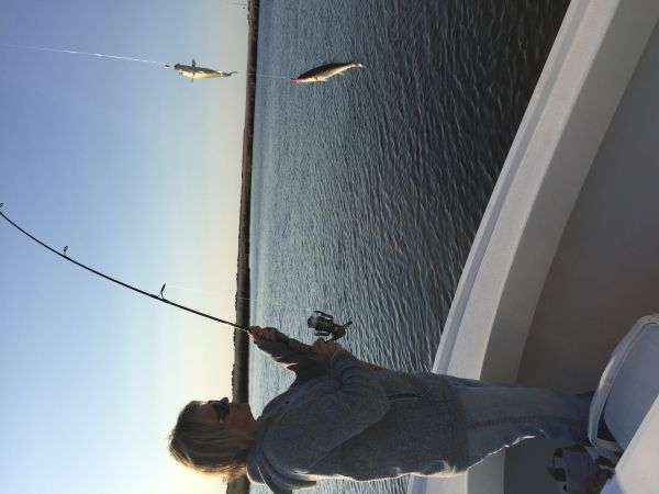 T-Time Charters, More Specks and rockfish for the girls on Tuesday