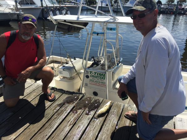 T-Time Charters, Few flat fish for supper
