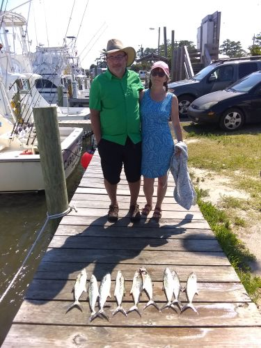 Fishing Taxi Sportfishing, Mr. and mrs. on the boat