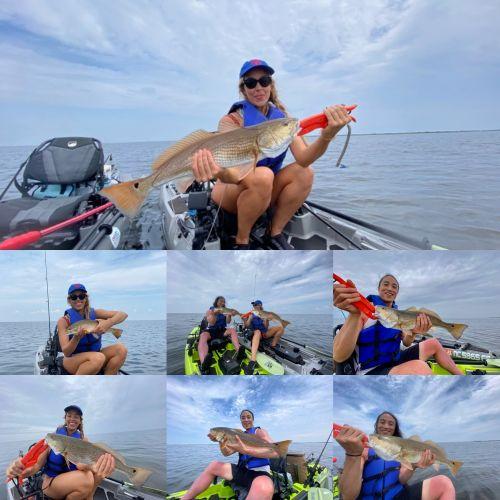Kayak Fishing OBX fishing puppy drum adventure