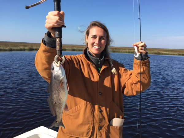 T-Time Charters, Meg with a puppy drum