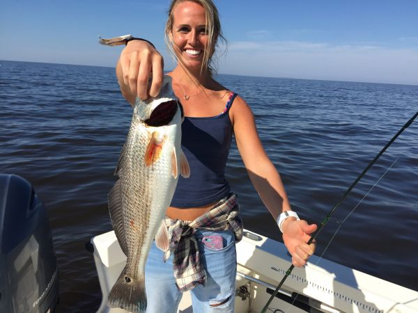 T-Time Charters, Anna snags our first keeper drum