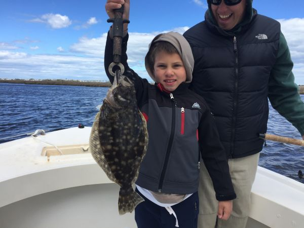 T-Time Charters, Nice flatfish on a windy day