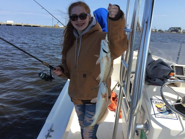 T-Time Charters, Double header redfish