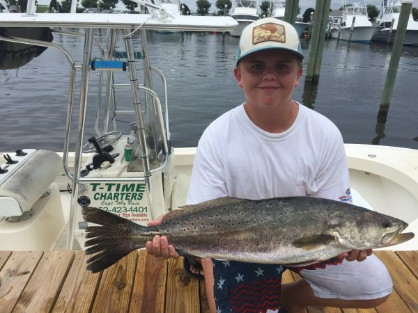 T-Time Charters, Brandon Mcclung takes top speckled trout