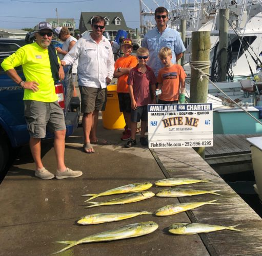 Bite Me Sportfishing Charters, Don and Grandsons