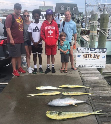 Bite Me Sportfishing Charters, swelly with dolphin and tuna