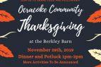 OBX Events, Ocracoke Community Thanksgiving