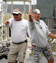 Mullet tossing contest at Day at the Docks in Hatteras