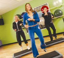 Group exercise at the Y is one way to survive winter...