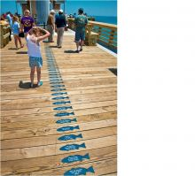 Sponsor a plank, get an engraved fish at Jennette's Pier.