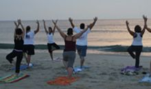 How about some yoga on the beach this week?