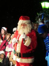 Santa at Manteo's Grand Illumination.