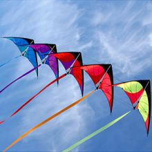 Kite acrobatics entertain at the weekend's stunt kite event.