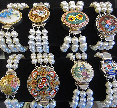 Muzzie's Fine Jewelry & Gifts, Val Colbert Pearls & Antique Buttons Bracelets
