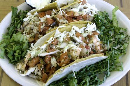 Atlantic Coast Café Hatteras Island, A. C. C.'s Famous Fish Tacos