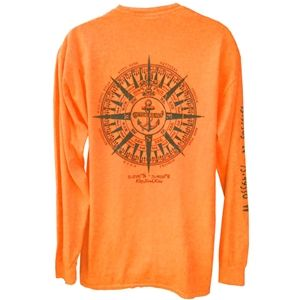 Kitty Hawk Kites, Outer Banks Anchor Compass Neon Long Sleeve Tee