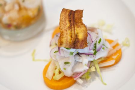 Bad Bean Baja Grill, Peruvian Rockfish Ceviche